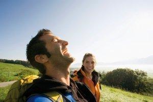 Wanderer, glücklich, Sonne