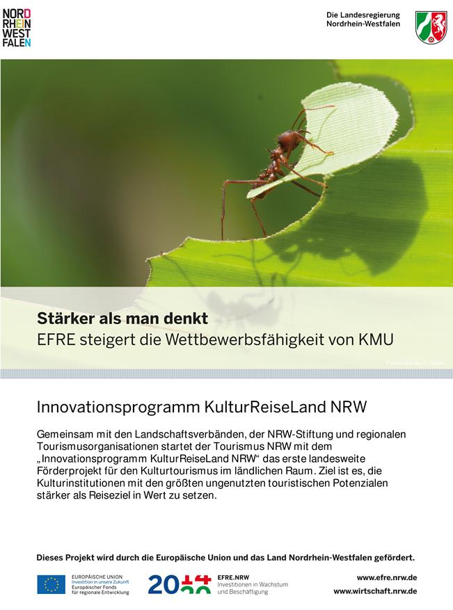 Plakat, EFRE-Projekt, Innovationsprogramm Kulturreiseland