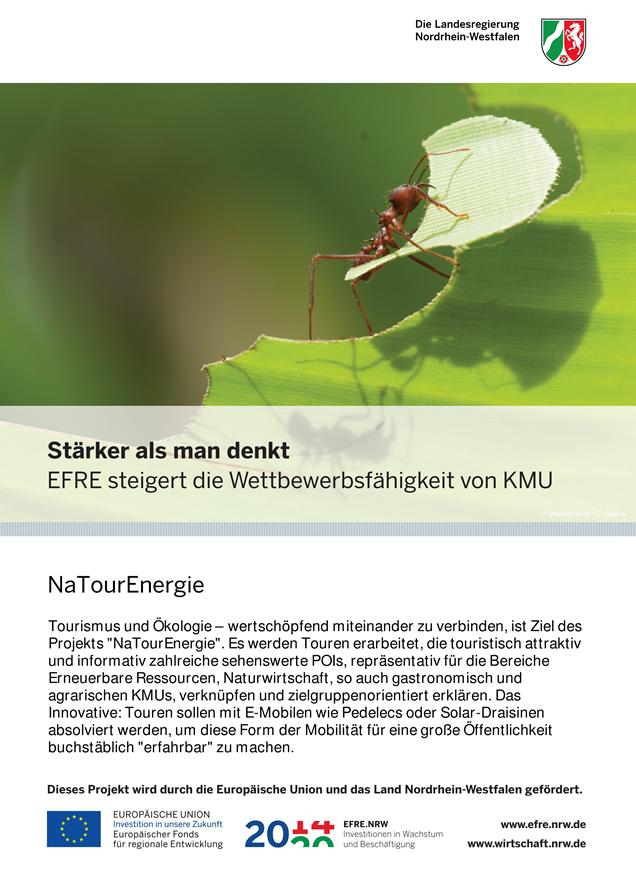 Plakat, EFRE-Projekte, NaTourEnergie
