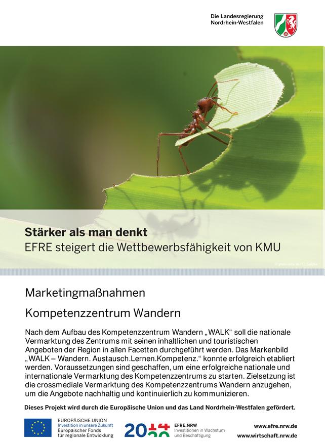 Plakat, Efre-Projekt, Marketingmaßnahmen, Kompetenzzentrum Wandern WALK